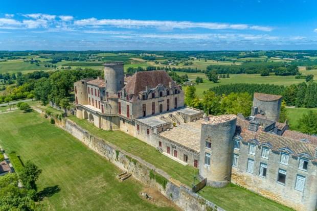 Château Duras vue Drone 2020